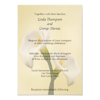 Calla Lilly auf Goldhochzeits-Einladung 12,7 X 17,8 Cm Einladungskarte