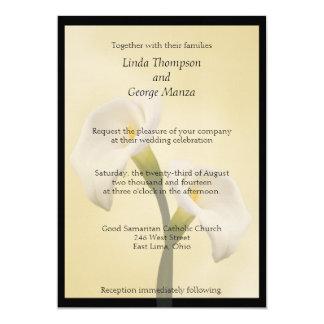 Calla Lilly gerahmte Hochzeits-Einladung 12,7 X 17,8 Cm Einladungskarte