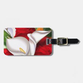 Calla-Rosen-Blumenstrauß Gepäckanhänger