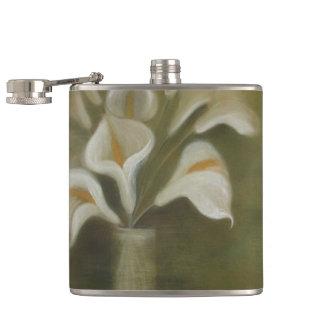 Calla-Schnitt-Blumen in einem Vase Flachmann