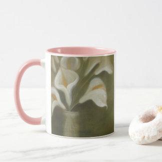 Calla-Schnitt-Blumen in einem Vase Tasse