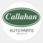 Callahan Auto-Teile Runder Aufkleber