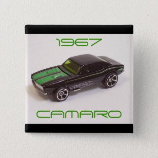 Camaro 1967 quadratischer button 5,1 cm
