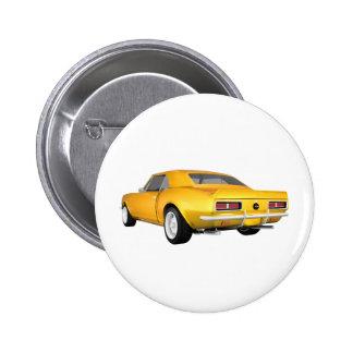 Camaro 1967 SS: Gelbes Ende: Modell 3D: Anstecknadelbutton