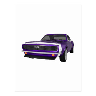Camaro 1967 SS: Lila Ende: Modell 3D: Postkarte