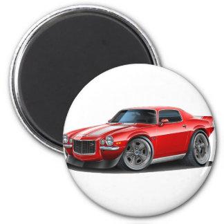 Camaro 1970-73 rot/weiß runder magnet 5,1 cm