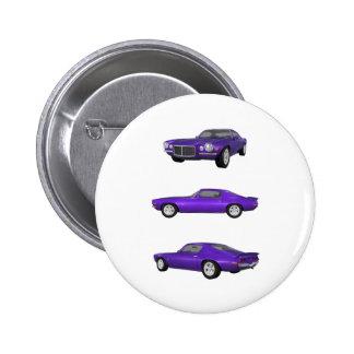 Camaro 1972: runder button 5,1 cm