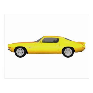 Camaro 1972 Z28: Muskel-Auto: Gelbes Ende: Postkarte