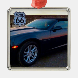 Camaro auf Weg 66 Silbernes Ornament