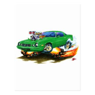 Camaro grünes Auto 1979-81 Postkarte
