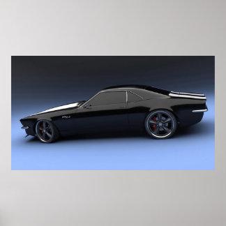 Camaro SS Sport-Auto-Plakat