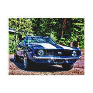 Camaro SS Supersport-Muskel-Auto 1969 Leinwanddruck