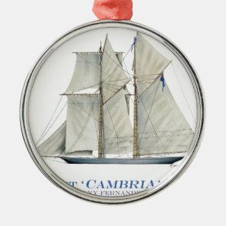Cambria 1870 silbernes ornament