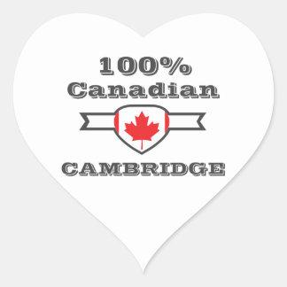 Cambridge 100% Herz-Aufkleber