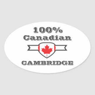 Cambridge 100% ovaler aufkleber