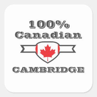 Cambridge 100% quadratischer aufkleber