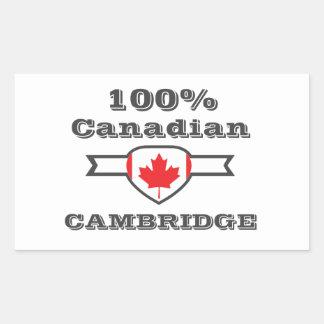 Cambridge 100% rechteckiger aufkleber