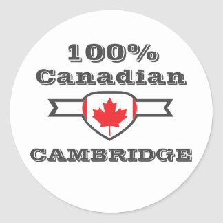 Cambridge 100% runder aufkleber