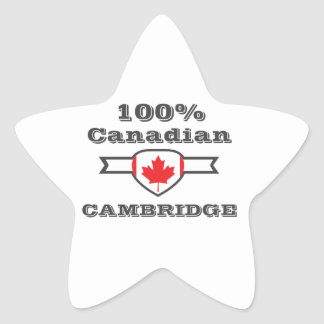 Cambridge 100% Stern-Aufkleber