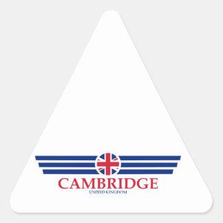 Cambridge Dreieckiger Aufkleber