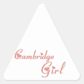 Cambridge-Mädchen Dreieckiger Aufkleber