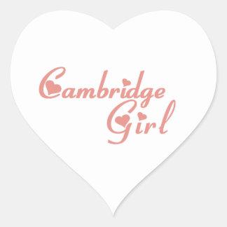 Cambridge-Mädchen Herz-Aufkleber