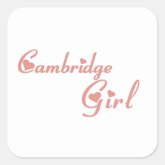Cambridge-Mädchen Quadratischer Aufkleber