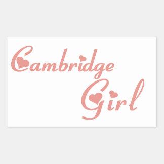 Cambridge-Mädchen Rechteckiger Aufkleber