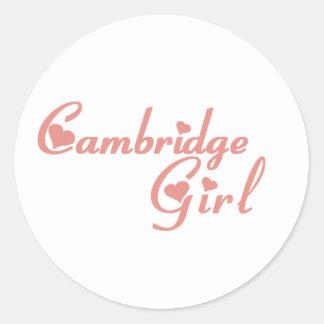 Cambridge-Mädchen Runder Aufkleber