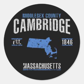 Cambridge Runder Aufkleber