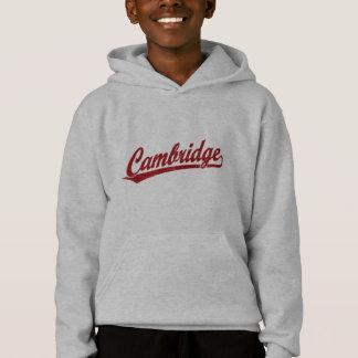 Cambridge-Skriptlogo im Rot Hoodie