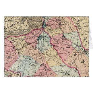 Camden, Gloucester-Landkreise, NJ Karte