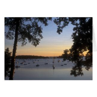 Camden-Hafen Maine an der Dämmerung Karte