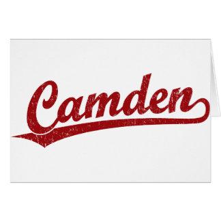 Camden-Skriptlogo im Rot Karte