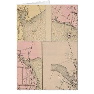 Camden, Wiscasset, Damariscotta, Newcastle Karte