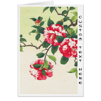 Camelia Nishimura Hodo ukiyo-e Blumenkunst Karte