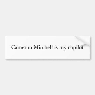 Cameron Mitchell ist mein Kopilot Autoaufkleber