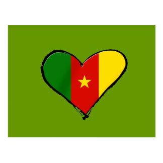 Cameroon-Liebe - i-Liebe Cameroon-Flaggengeschenke Postkarte