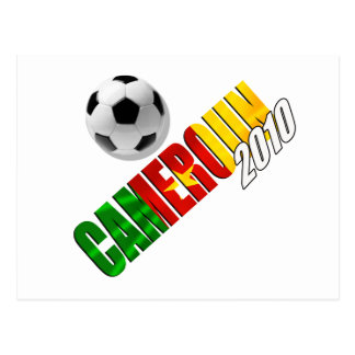 Cameroun 2010 - Camerounaise Fußball Postkarte
