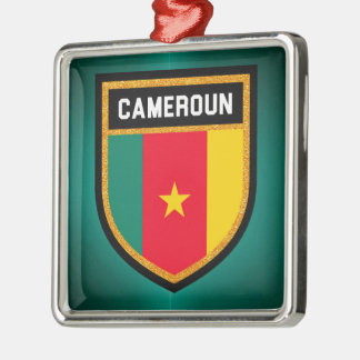 Cameroun-Flagge Silbernes Ornament
