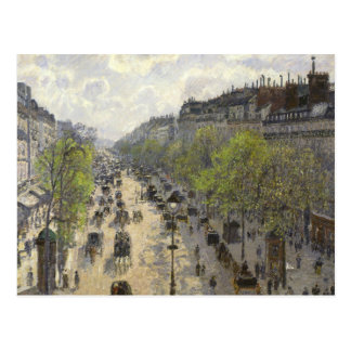 Camille Pissarro - Boulevard Montmartre, Frühling Postkarte