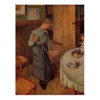 Camille Pissarro- das Lands-Mädchen Postkarte