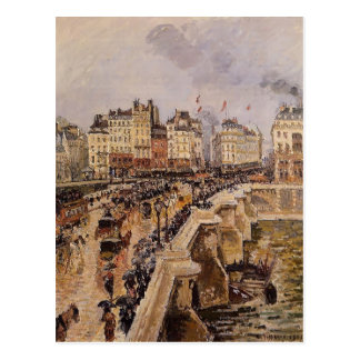 Camille Pissarro- das Pont Neuf, regnerischer Postkarte