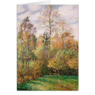 Camille Pissarro - Herbst, Pappeln, Eragny Karte
