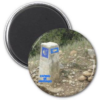 Camino De Santiago Runder Magnet 5,7 Cm