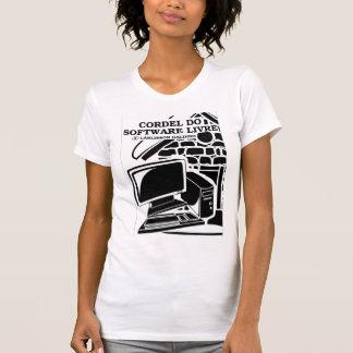 Camisa Cordel tun Software-Livre (feminina) T-Shirt