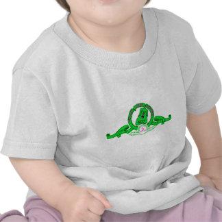 Camiseta de color niño de Grin el perrito verde Hemd