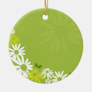Camomile Flowers Keramik Ornament