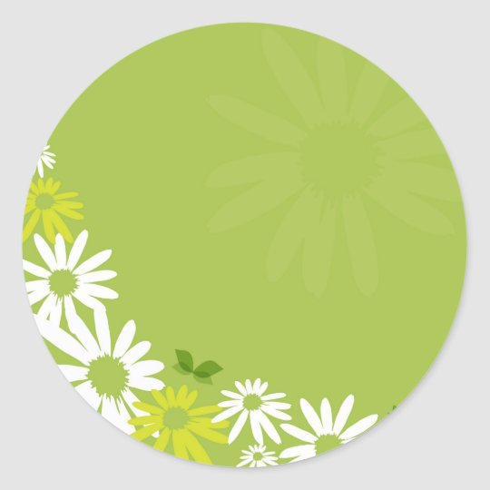 Camomile Flowers Runder Aufkleber