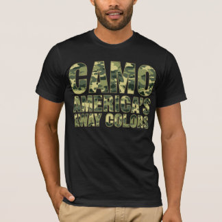 Camouflage-Amerikas weg FarbShirt T-Shirt